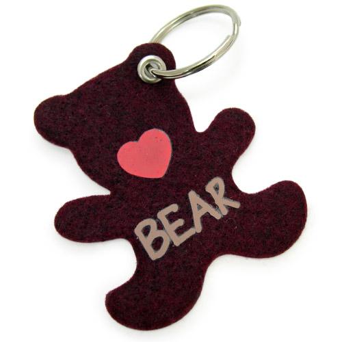 NorthPeak - Bear Shape Felt Keychains