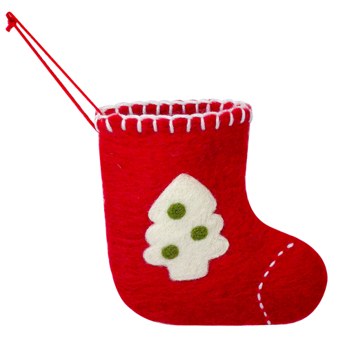 item d217062i productwool christmas stocking small - Small Christmas Stockings